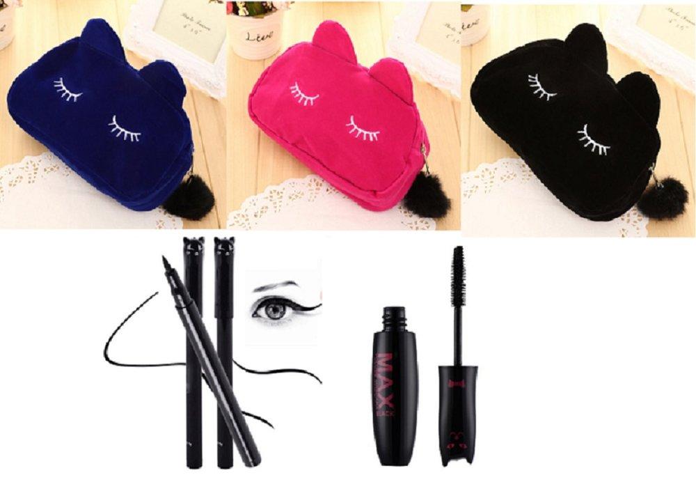 Make-up tasje met mascara en eyeliner of losse attributen